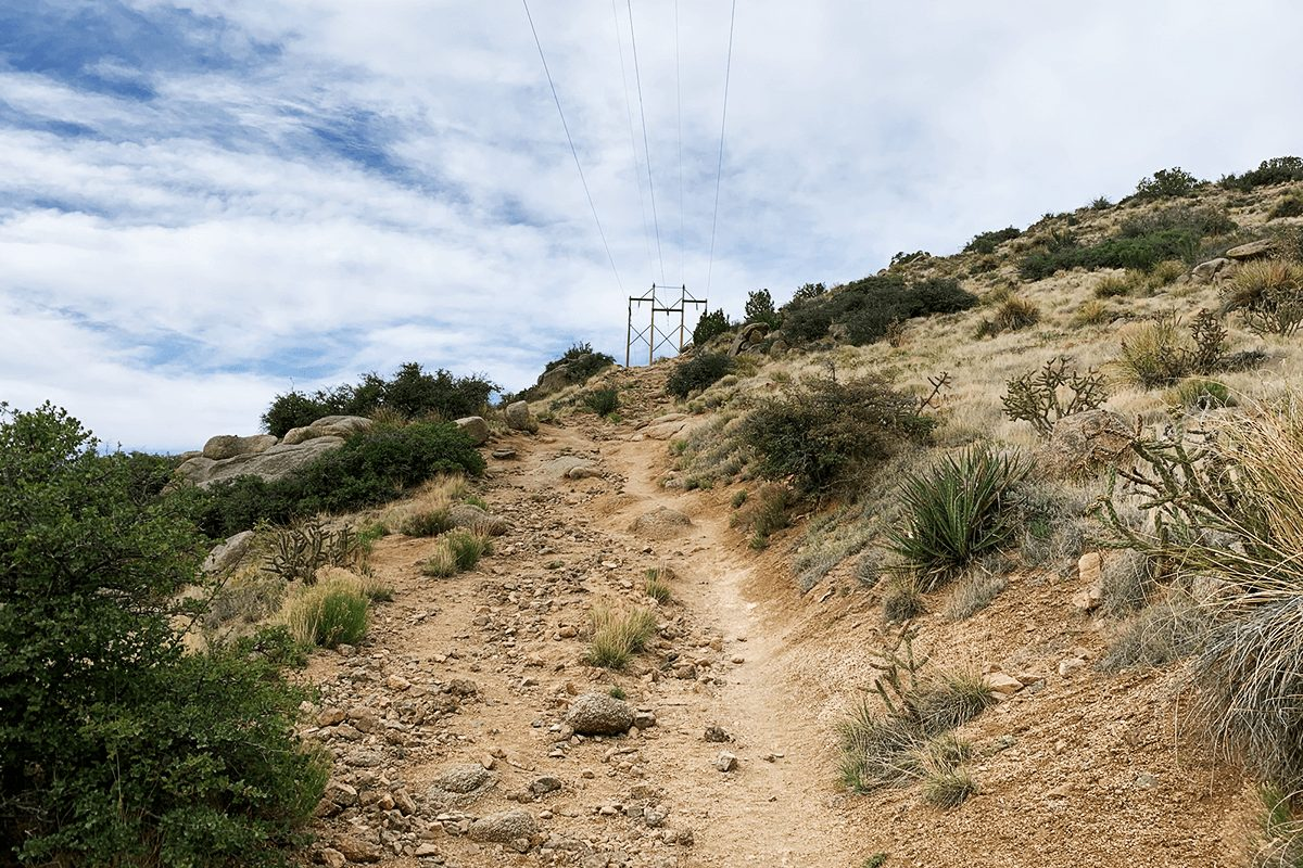 trail up hill