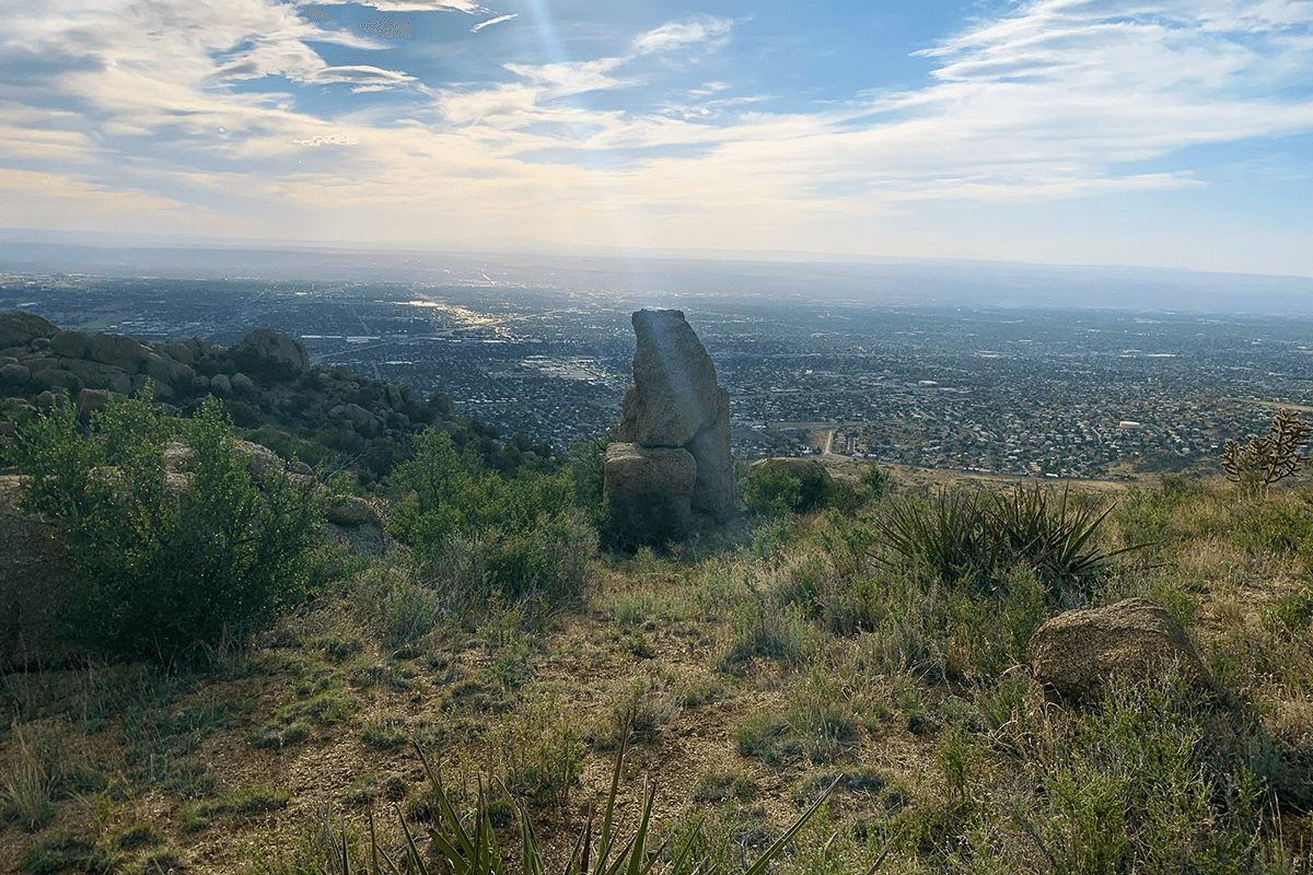 View fro the top of the Eye of Sandias Trail